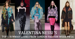 TOP 5 RUNWAY  LOOKS from London Fashion Week - VFW MAG COVER XY